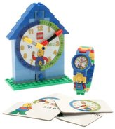 Lego Time Teacher Blue Kids Minifigure Link Buildable Watch, Constructible Clock and Activity Cards | blue/green | plastic | 28mm case diameter| analogue quartz | boy girl | official