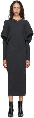 LVIR Grey Asymmetric Long Dress
