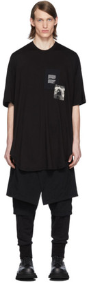 Julius Black Patch Print T-Shirt