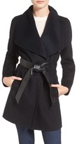 Mackage Women's Double Face Wool Blend Coat With Leather Belt