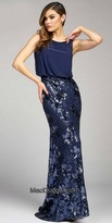 Mac Duggal Sequin Floral Fitted Evening Dress