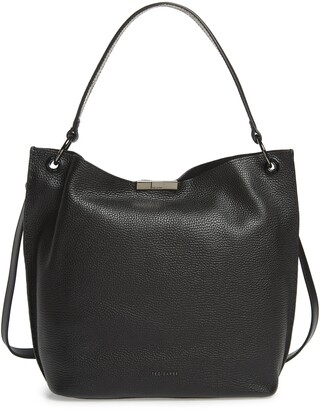 Ted Baker Jalinda Exotic Leather Hobo & Snake Embossed Pouch