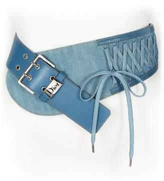 Christian Dior Blue Denim Corset Belt