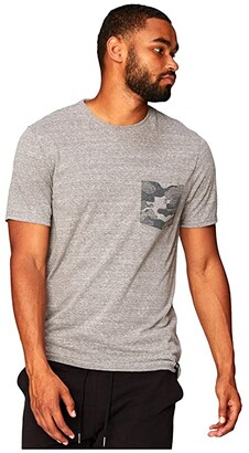Threads 4 Thought Camo Contrast Pocket Tee (China Blue) Men's Clothing