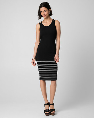Le Château Stripe Jersey Scoop Neck Dress