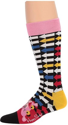 Happy Socks Pink Panther Jet Pink Sock (Navy/Red) Crew Cut Socks Shoes