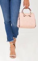 PrettyLittleThing Pink Hoop Handle Shoulder Bag