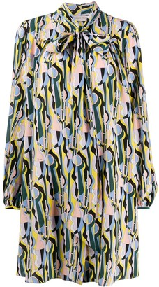 Emilio Pucci Geometric-Print Silk Dress