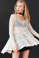 Ecote Lace Tiered Trapeze Top