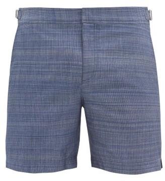 Orlebar Brown Bulldog Chambray-effect Swim Shorts - Blue