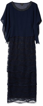 Le Bos Women's Lace Bottom Long Dress