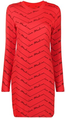 Love Moschino Logo-Print Dress