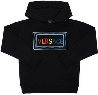 Versace Embroidered Logo Sweatshirt Hoodie