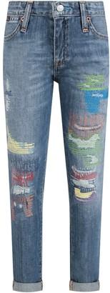 Ralph Lauren Light Blue Kids Jeans With Colorful Details