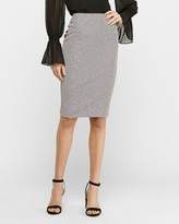 Express High Waisted Check Clean Pencil Skirt