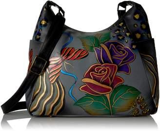 Anuschka Anna By Anna by Hobo Handbag | Genuine Leather | Rose Safari Grey