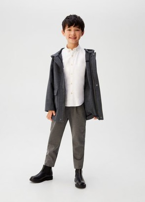 MANGO Pockets hooded coat grey - 5 - Kids