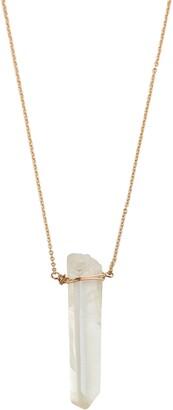 Nashelle Wander Long Stone Pendant Necklace