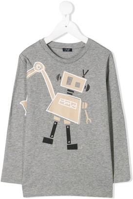 Il Gufo robot print long-sleeved T-shirt