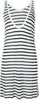 Alexander Wang striped tank dress - women - Linen/Flax/Rayon - M