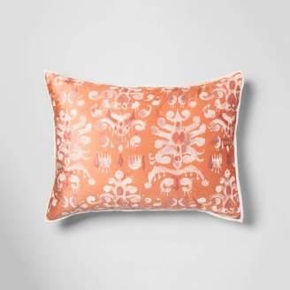 Opalhouse Standard Ikat Tufted Velvet Sham Coral - OpalhouseTM