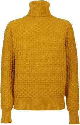 Pinko Yellow Viscose Sweater