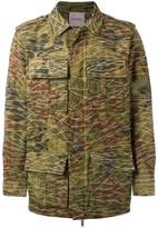 Palm Angels camouflage print military jacket
