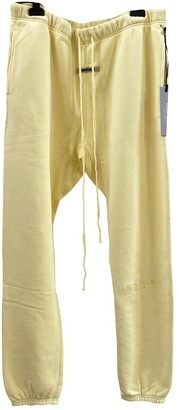 Fear Of God Yellow Cotton Trousers