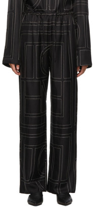 Totême Black Vizelle Monogram Lounge Pants