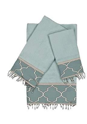 Austin Horn Classics En Vogue Stanton Beads 3 Piece Decorative Embellished Towel Set