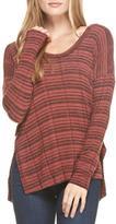 Lush Brick Reverse Knit Top