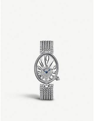 Breguet 8918BB/58/J20/D000 Reine de Naples 18ct white-gold, mother-of-pearl and diamond watch