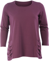 Isolde Roth Plus Size Cotton shirt with pouch pockets
