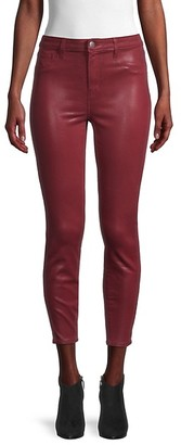 L'Agence Margot High-Rise Coated Skinny Ankle Jeans