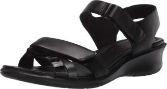 Ecco womens Felicia Ankle Strap Wedge Sandal