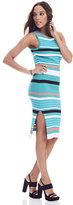 New York & Co. Ribbed Sweater Dress - Stripe