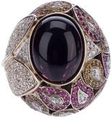 Athena pink sapphire and diamond robeline ball ring