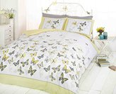 Art Double Duvet Cover and 2 Pillowcase Bed Set, Polycotton, Yellow