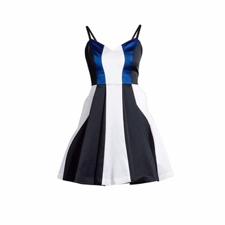 Philosofée By Glaucia Stanganelli Triade Tricolor Dress Blue Detail