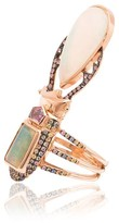 18k rose gold Aurae opal and sapphire ring