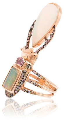 Daniela Villegas 18k rose gold Aurae opal and sapphire ring