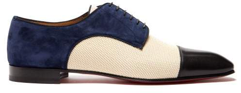 reputable site 2263c c02cd Daviol Suede And Leather Dress Shoes - Mens - Multi