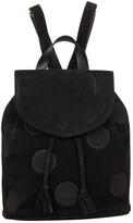 Salvatore Ferragamo Black Suede Backpack