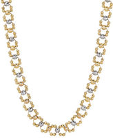 Lord & Taylor 14K Yellow Gold Faceted Round Bead Link Necklace