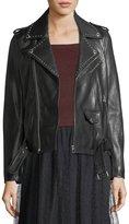 RED Valentino Studded Lambskin Leather Jacket