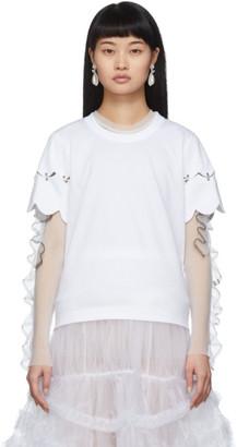 Noir Kei Ninomiya White Scallop T-Shirt