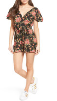 WAYF Lace-Up Romper