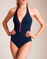 Christies Serie Marine Zipper V Neck Swimsuit