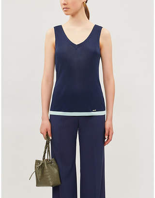 Ted Baker Colour block stretch-knit top