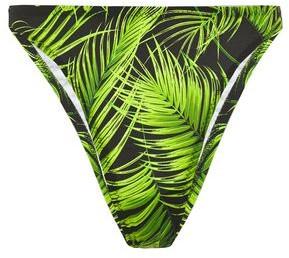 Norma Kamali Printed Mid-rise Bikini Briefs